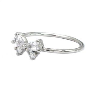 Ocean Fashion Jewelry - Cute bow crystal ring